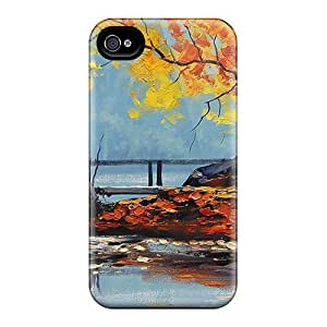 Quality Luoxunmobile333 Cases Covers With Beautyfull Lake Paint Nice Appearance Compatible With Ipod Touch 4