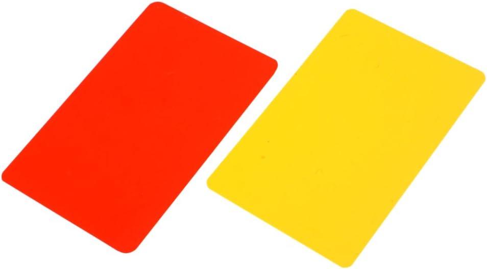 non-brand Sharplace Portafoglio Di Segnalazione Arbitro Rosso//Giallo Per Calcio Calcio Allenatore Di Calcio