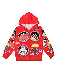 Thombase Ryan's World YouTube Merch Toys Review Kids Hooded Jacket Cartoon Tops