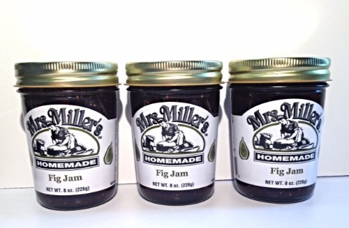 Mrs. Miller's Amish Homemade Fig Jam, 8 oz (3 Jars) by Mrs. Miller's