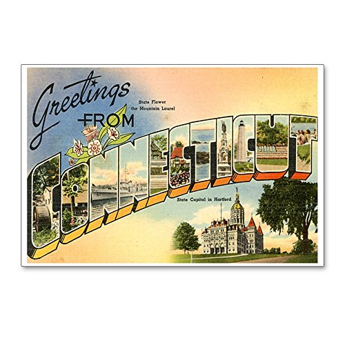 CafePress - Greetings From Connecticut Postcards (Package Of 8 - Postcards (Package of 8), 6