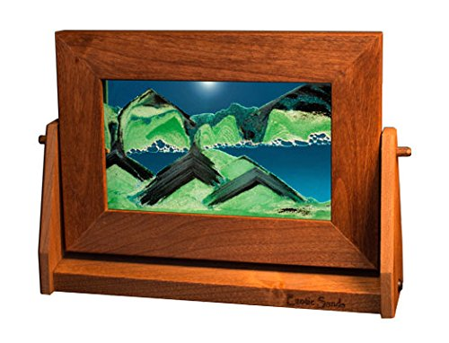Exotic Sands Sm12 SAND PICTURES MANUFACTURER DIRECT - USA QUALITY - Small Alder Frame (Summer Turquoise) by the Inventor William Tabar. Sandscapes Fall into beautiful art -