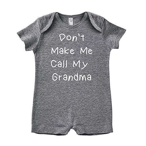 Mashed Clothing Don't Make Me Call My Grandma - Baby Romper (Granite 18 Months)