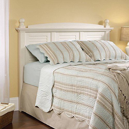 Sauder 158022 Harbor View Full/Queen Headboard, Antiqued White Finish ()
