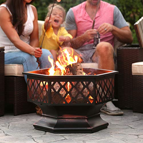 Kitchen Designer Jobs In Oman: Best Choice Products Hex Shaped Fire Pit For Outdoor Home Garden Backyard