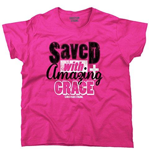 Saved Amazing Grace Christian T Shirt   Religious Gift Jesus T Shirt Ladies