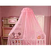 Baby Mosquito Net Baby Toddler Bed Crib Dome Canopy Netting (pink)