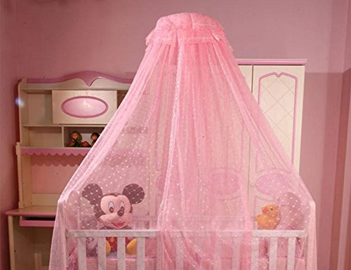 Baby Mosquito Net Baby Toddler Bed Crib Dome Canopy Netting (butterfly blue) IFELES
