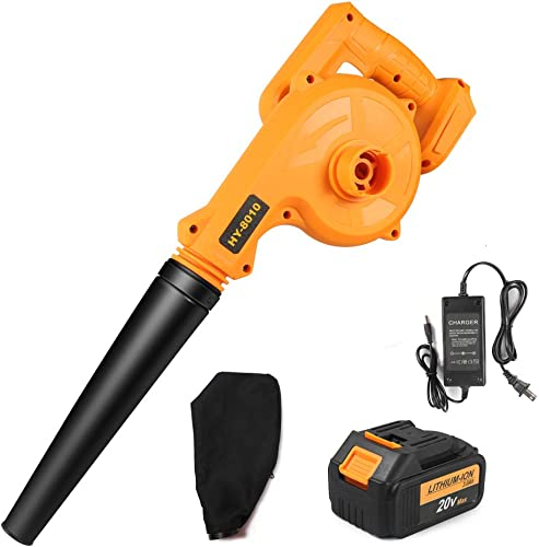Waspt Cordless Leaf Blower, 20V MAX Lithium Cordless Sweeper, 3.0 Ah Battery Charger Included