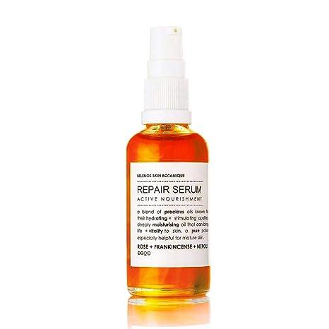 Sérum facial reparador natural, 50 ml, para todos los tipos de piel, impregnado con incienso de ...