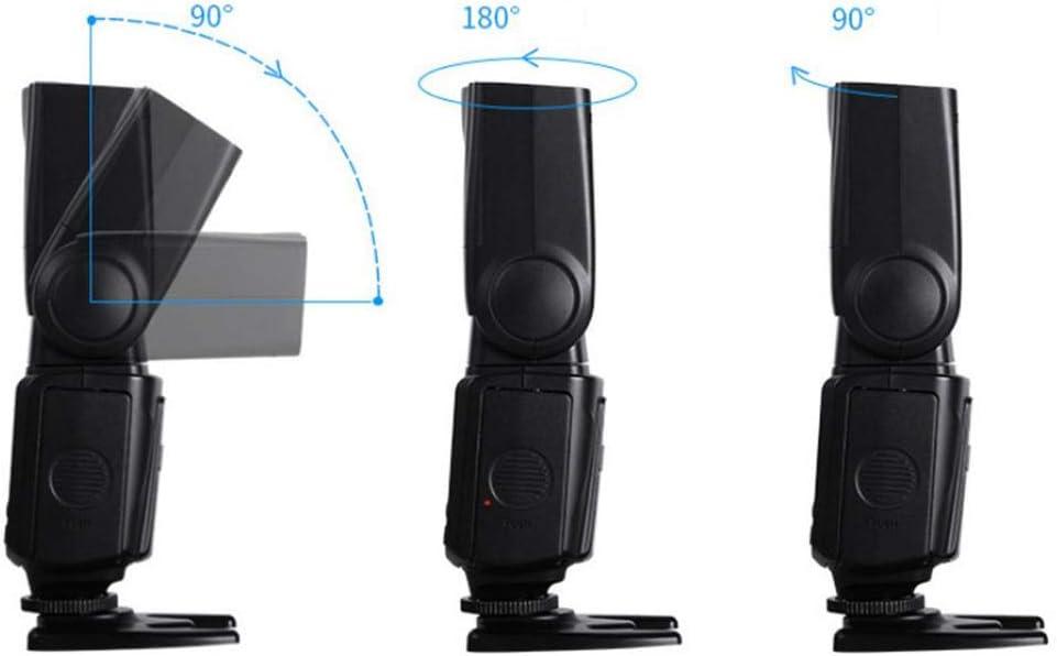 Pomya Professional Speedlite Camera Flash for Canon Nikon,High Speed Flash Speedlite 5800K with Fill Light for Canon for Nikon SLR Camera