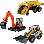 iPlay, iLearn Heavy Duty Construction Site Play Set, Collectible Model Vehicles, Metal Tractor Toy, Dump Truck