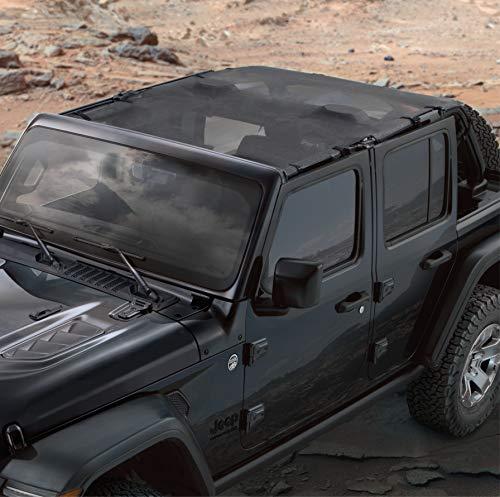Mopar 82215390AB Mesh Sun Bonnet Jeep Wrangler Four Door JL - Jeep Tops Mopar Soft