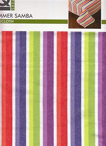 OKSLO Suer samba stripe tablecloth 60 x 84 rectangle cotton