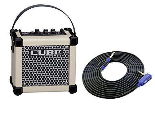 柔らかな質感の Roland(ローランド) コンパクトサイズ ギターアンプ 3m MICRO [M-CUBE CUBE GX ホワイト [M-CUBE VOX GXW] + 3m ギターケーブル VOX VGS-30 セット B0793LL6HJ, アンテプリマ:c1450830 --- a0267596.xsph.ru