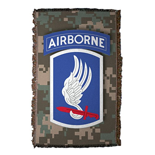 VictoryStore Blanket - Military Divisions Woven Blanket, 173rd Airborne BCT Design (Division Airborne 173rd)