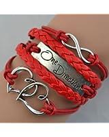 Charm.L Grace Classic Refinement Vintage 1D Bracelet Love Leather