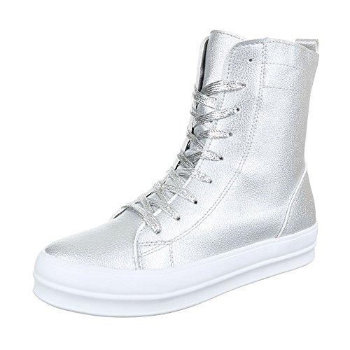 Ital-Design - Zapatillas de Material Sintético para mujer plata
