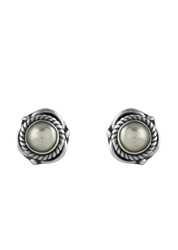 058a43981 Abhooshan Cute Looking White Pearl Studs for kids in 92.5 Sterling Silver