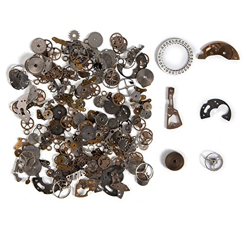 Pocket Watch Parts (XCSOURCE 30g Mixed Brass Watch Parts Steampunk Cyberpunk Vintage Cogs Gear Wheel DIY Deco Jewelry Art Craft CR011)