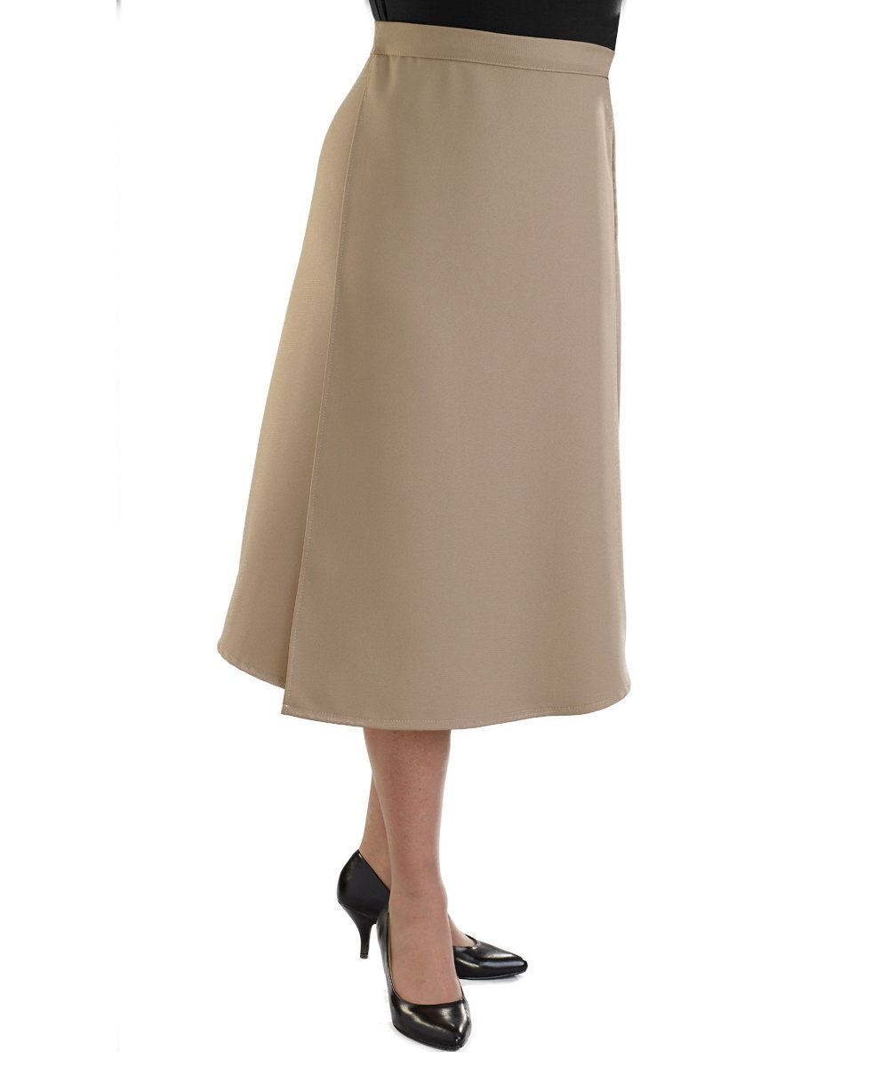 Adaptive Wrap Skirt with Adjustable Closures - Taupe 3XL by Silvert's