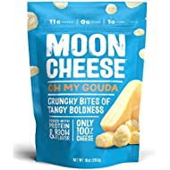 Moon Cheese Oh My Gouda, 100% Gouda Cheese Snacks, Crunchy Keto Food, Low Carb, High Protein, 10 oz. (1 Pack)…