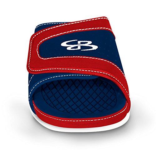 Boombah Mens Tyrant Slide Sandals - 32 Color Options - Multiple Sizes Navy/Red SrprMJa