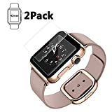 Bestfy Apple Watch 42mm Screen Protector (Series 1 / Series 2/ Series 3), Tempered Glass Screen Protector [Scratch Resistant] [Anti-Bubble] for Apple Watch [2 Pack] Ⅱ Generation