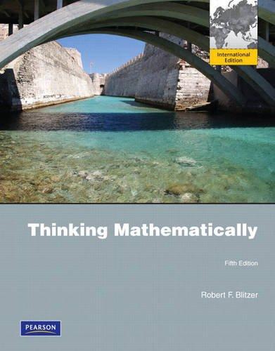 Thinking Mathematically: International Edition