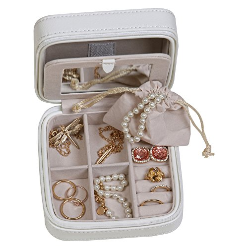 Mele & Co. Dana Travel Jewelry Case in Faux Leather (Ivory) by Mele & Co. (Image #6)