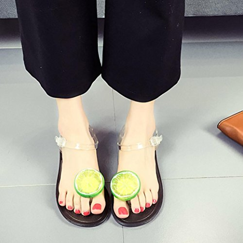 Simulation Women Lemon Decor Beach Transer® Leisure Flat Slippers Comfortable Summer Strawberry E Lemon Shoes Sandals Ladies 5p1qYxH