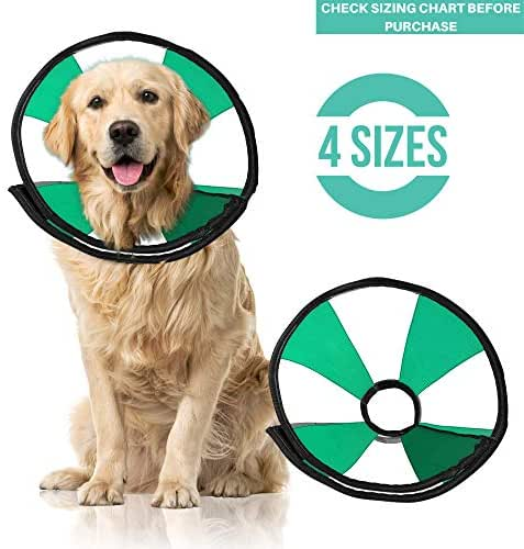ProCollar Pet Recovery Cone E-Collar for Dogs and Cats - Comfortable Soft Collar is Adjustable for a Secure and Custom Fit - Easy for Pets to Eat and Drink - Works with Your Pet's Collar (Large)