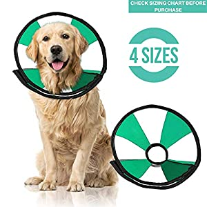ProCollar Pet Recovery Cone E-Collar for Dogs and Cats – Comfortable Soft Collar is Adjustable for a Secure and Custom Fit – Easy for Pets to Eat and Drink – Works with Your Pet's Collar (Large)
