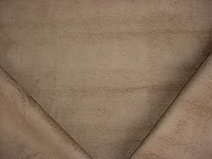 21RT3 - Brown/Taupe Lined Soft Chenille Designer Upholstery Drapery Fabric - By the Yard