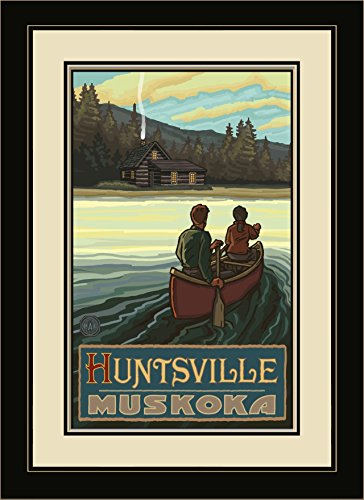 Northwest Art Mall Huntsville Muskoka Lake Canoers Hills Framed Wall Art by Paul A. Lanquist, 13 by - Huntsville Mall