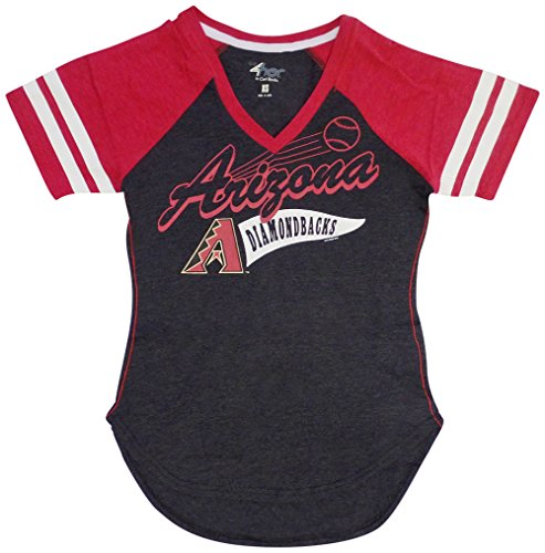 - GIII Apparel Arizona Diamondbacks Women's Black Bases Loaded V-Neck T-Shirt Medium