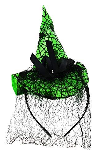 Black Duck Brand Halloween Headbands! Spooky Themed Headbands! Spider, Mini Witch & Mini Top Hat Headbands! (Single Headband, Green Witch's Hat)]()