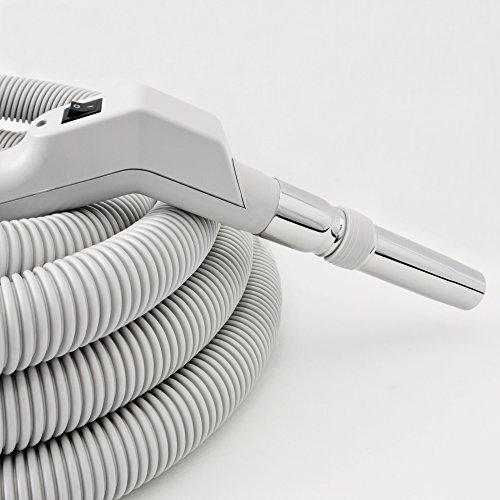 Crushproof Voltage Hose Low - Central Vac Hose Assy 40Ft Low Voltage Crushproof Hose With Switch-Grey