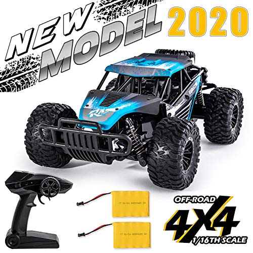 High Speed Off Road Remote Control Car for Kids - 1:16 RC Rock Crawler 4x4 Toy Truck with Rechargeable Battery - Great Gift for Boys and Girls