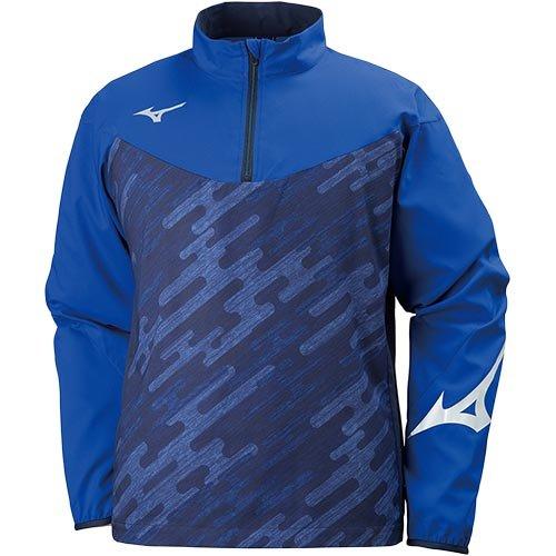 驚くべき横向きピグマリオン[ミズノ] メンズ レディース サッカー フットサル 長袖 シャツ トレーニング ムーブクロスシャツ サーフブルー×ディープネイビー XL
