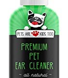 Premium Pet Ear Cleaner! Best All Natural Dog & Cat Ear Drops! Aloe Vera & Eucalyptus! Head Shaking, Discharge, Smell & Itching Relief From Mites, Yeast & Bacteria! Vet recommended!