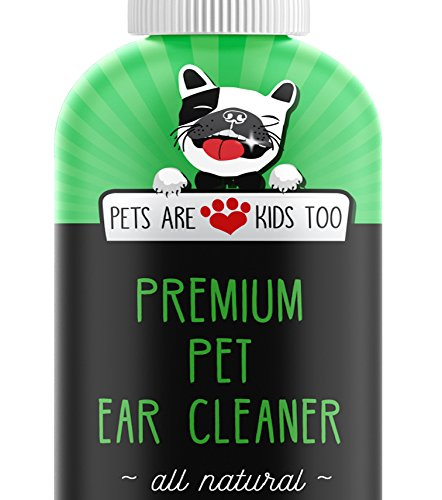 Premium Pet Ear Cleaner! Best All Natural Dog & Cat Ear Drops! Aloe Vera & Eucalyptus! Head Shaking, Discharge, Smell & Itching Relief From Mites, Yeast & Bacteria! Vet recommended! All Ages/Breeds!