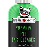 Premium Pet Ear Cleaner! Best All Natural Dog & Cat Ear Drops! Aloe Vera & Eucalyptus! Head Shaking, Discharge, Smell & Itching Relief From Mites, Yeast & Bacteria! Vet recommended! (1 Pack)