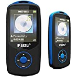 HONGYU® Portable Hi-Fi 4GB Bluetooth MP3 Player with FM Radio 50 Hours Playback Lossless Sound Media Player Expandable Up to 64GB(Color Blue)