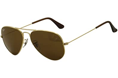 bdb8c65c88601 Amazon.com: Ray-Ban Aviator Large Metal Sunglasses,55mm,Gold/Brown ...