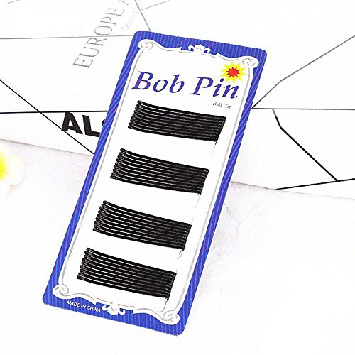 150 pcs Black Bobby Pins Slides Hair Clips Kirby Grips Clamps Salon Hairdressing Hairpin (flat S) (Grips Kirby)