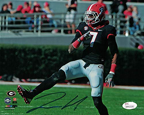 (Lorenzo Carter Autographed Signed Georgia Bulldogs 8x10 Photo - JSA Certified )