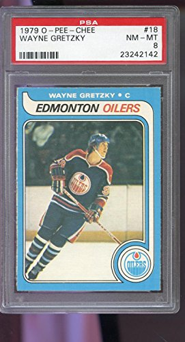 1979 O-Pee-Chee #18 Wayne Gretzky ROOKIE RC PSA 8 Graded Hockey Card ()