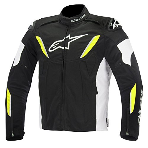 Alpinestars T-GP Plus R Waterproof Men's Street Motorcycle Jackets - Black/White/Yellow/Small