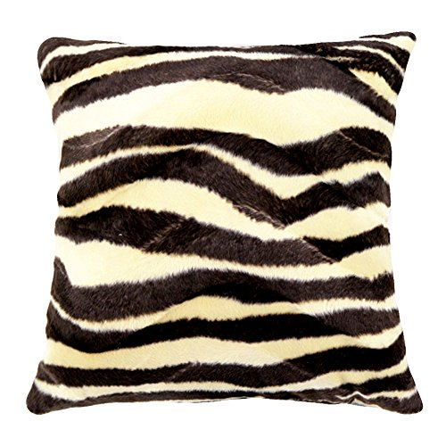 WOMHOPE 4 Pack - 18'' x 18'' Short Faux Fur Cushion Decorative Pillow Covers Animal Theme Print Style Square Throw Pillowcase Cushion Covers for Sofa,Bed,Chair,Auto Seat (F(Set of 4)) by WOMHOPE (Image #2)